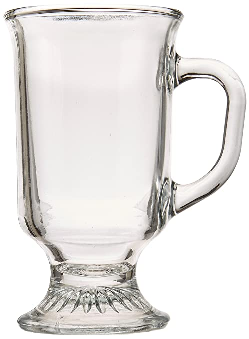 4154071e0cd Amazon.com | Anchor Hocking Irish Coffee Glass Coffee Mugs, 8 oz (Set of  12): Irish Coffee Glasses