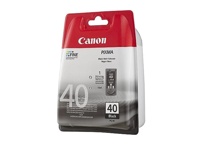 Canon PG-40 Cartucho de tinta original Negro para Impresora de ...