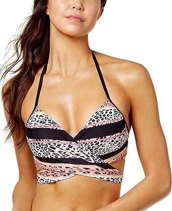 NEW Sundazed Multi Floral Simone Halter Wrap Underwire Bikini Swim Top 32 D