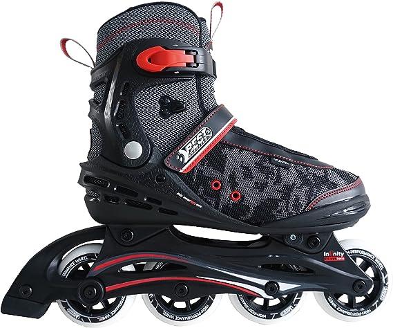 Breite verstellbar mit ABEC 7 Carbon Kugellager Inliner f/ür Kinder und Erwachsene bis Gr Best Sporting Inline Skates 46