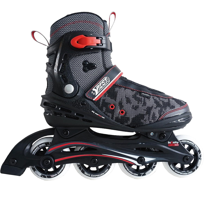 46 Best Sporting Inline Skates Breite verstellbar mit ABEC 7 Carbon Kugellager Inliner f/ür Kinder und Erwachsene bis Gr