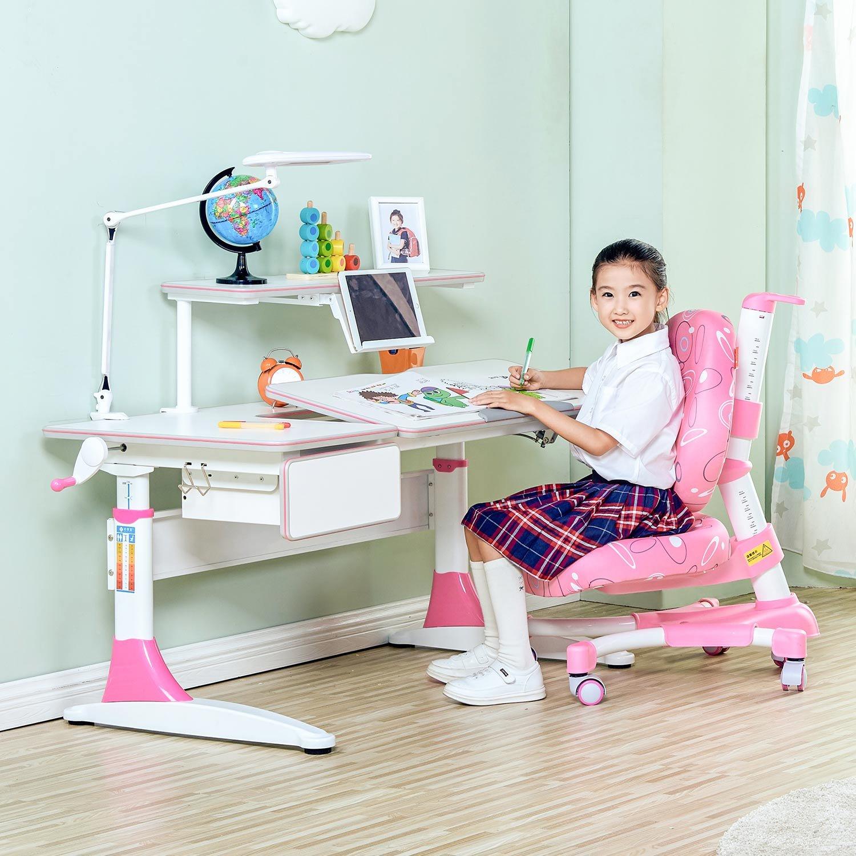 SINGAYE心家宜 手摇机械儿童学习桌椅套装M114+M200+M623