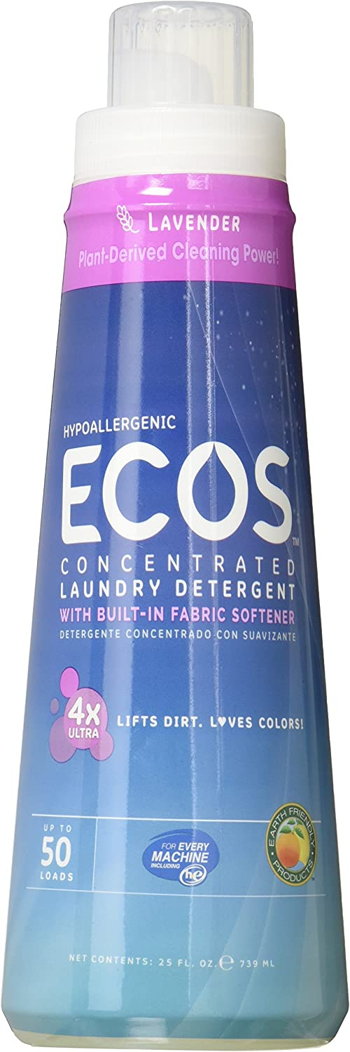 ECOS Earth Friendly Products 4x Concentrate Lavender, 25 Fluid Ounce, Multi