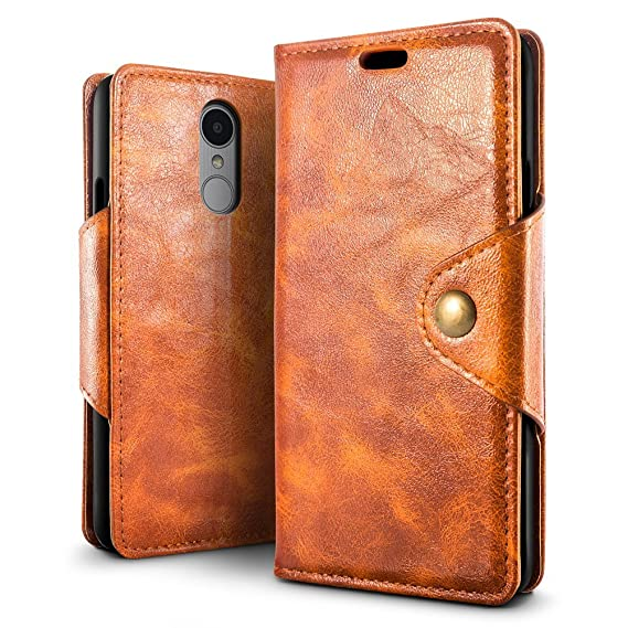 wholesale dealer fbd1b c5a3f LG Stylo 4 Case, LG Q Stylus Case, SLEO Magnetic Copper Buckle Design PU  Leather Wallet Folio Flip Phone Cover with Stand Function and Card Slots  for ...
