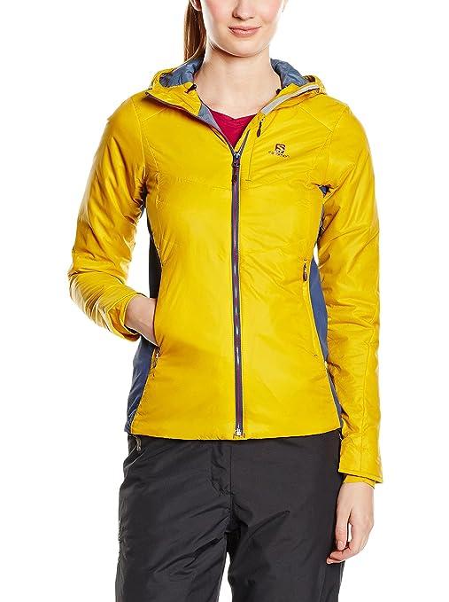 Salomon Minim Synth Hoodie W 369291 Mujer Übergangsjacke/Wind Chaqueta/capucha chaqueta Amarillo,