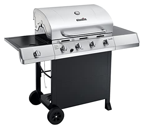 Amazon.com : Char-Broil Classic 4-Burner Gas Grill with Side Burner ...