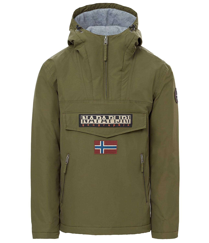 Napapijri Mens Jacket with Hood N0YGNLGD3 Rainforest Pocket