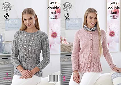 2354b1282 Image Unavailable. Image not available for. Colour  King Cole Womens Double  Knitting DK Pattern Ladies Sweater ...