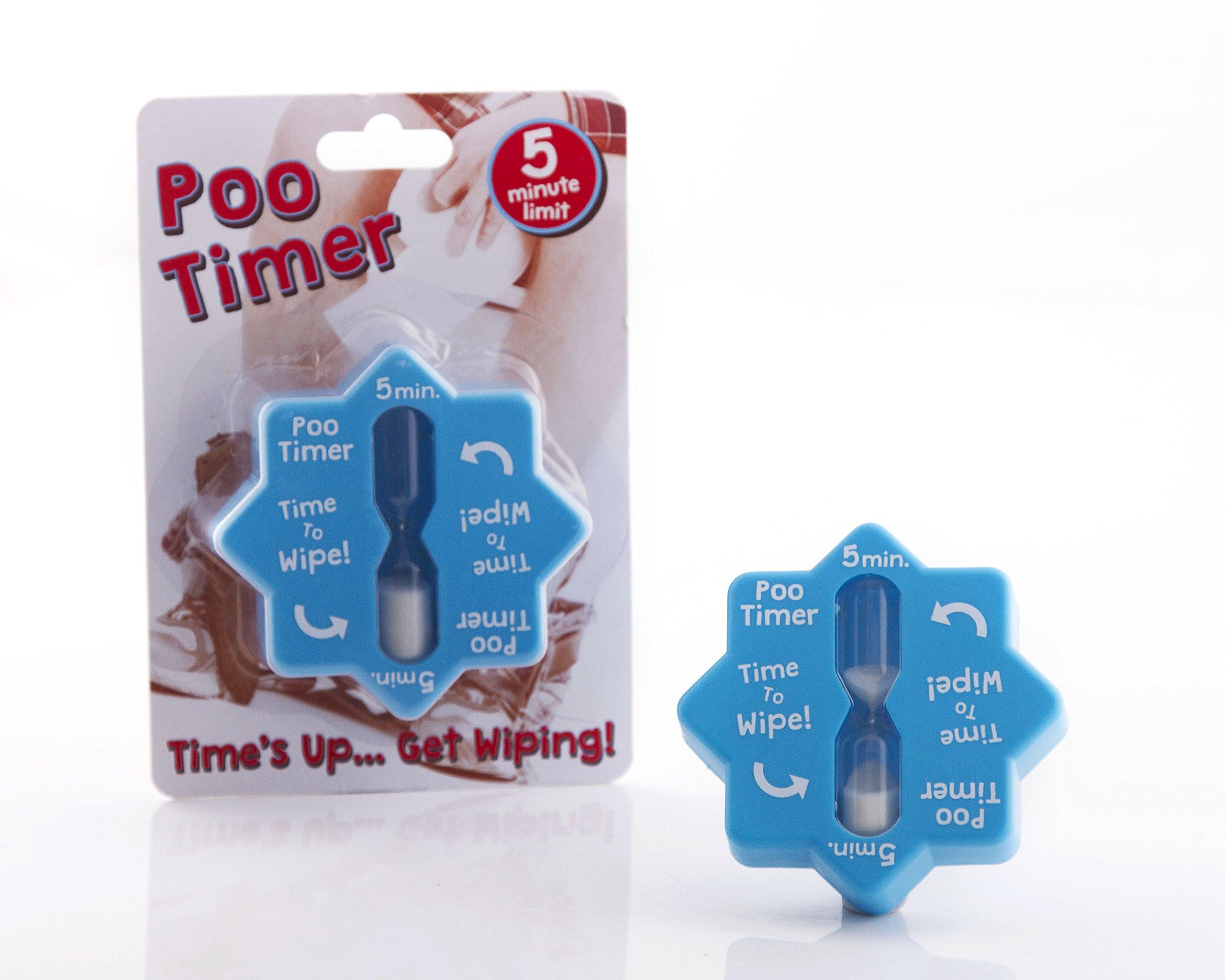 Boxer Gifts OT2054 Novelty Poo Funny Toilet Timer   Birthday, Christmas, Secret Santa Gift for Husbands, Dads and Other Men, 8.5 x 8.5 x 3.5cm