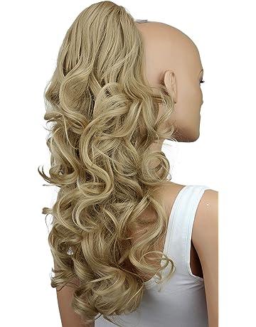 PRETTYSHOP Voluminosa corrugado peluca peluca trenza cola de caballo Cola de caballo fibra sintética 60cm rubio