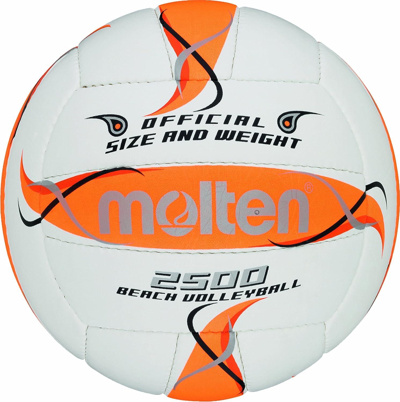 Molten BV2500-FOR - Pelota de Volley Playa (Talla 5), Color Blanco ...