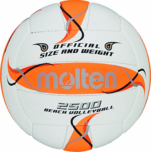 Molten BV1500-LB - Pelota de Volley Playa (Talla 5), Color Blanco ...