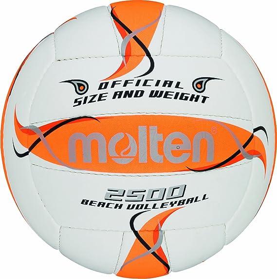 Molten BV1500-LB - Pelota de Volley Playa (Talla 5), Color Blanco ...