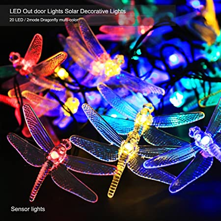 Amazon outdoors solar led string lights anko 19 feet 20 led solar amazon outdoors solar led string lights anko 19 feet 20 led solar powered dragonfly fair lights lighting and decoration for holiday christmas garden mozeypictures Choice Image