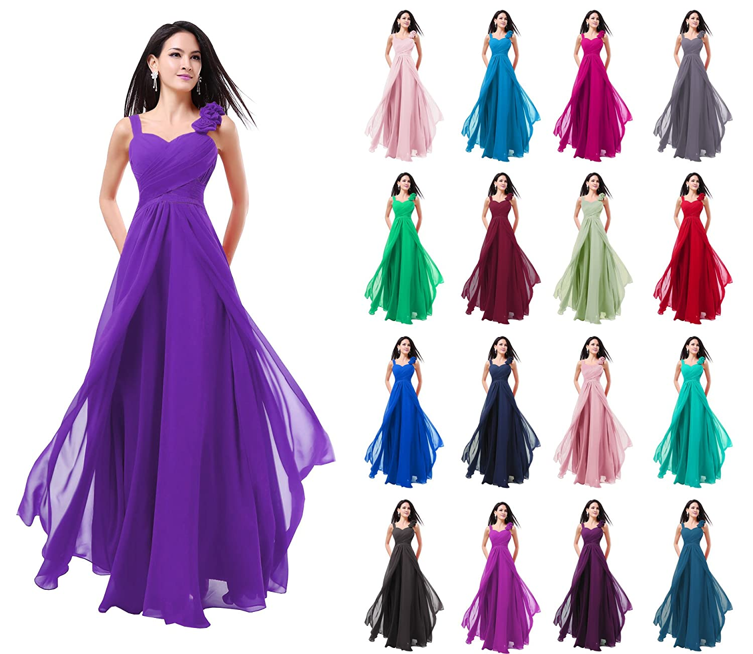 New Formal Long Evening Ball Gown Party Prom Bridesmaid Dress -SZ ...