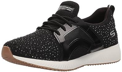 Skechers Damen Bobs Squad-Twinning Slip on Sneaker, Schwarz (Black/White), 39 EU