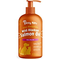 Pure Wild Alaskan Salmon Oil for Dogs & Cats - Supports Joint Function, Immune & Heart Health - Omega 3 Liquid Food…