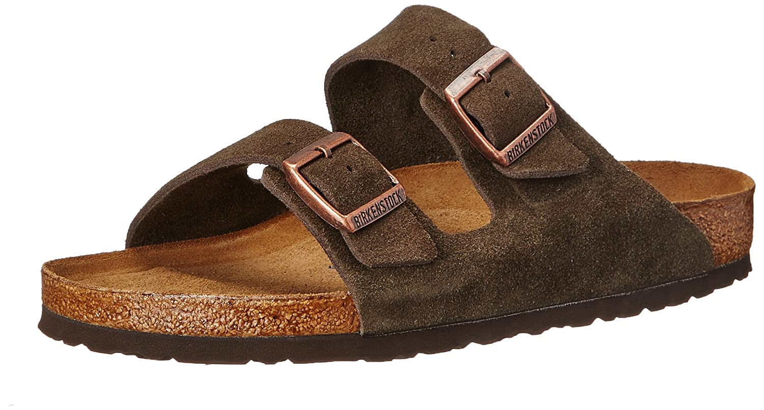 Birkenstock Arizona Soft Footbed Leather Sandal B000W0BVQA 37 M EU/6-6.5 B(M) US Women|Mocha Suede
