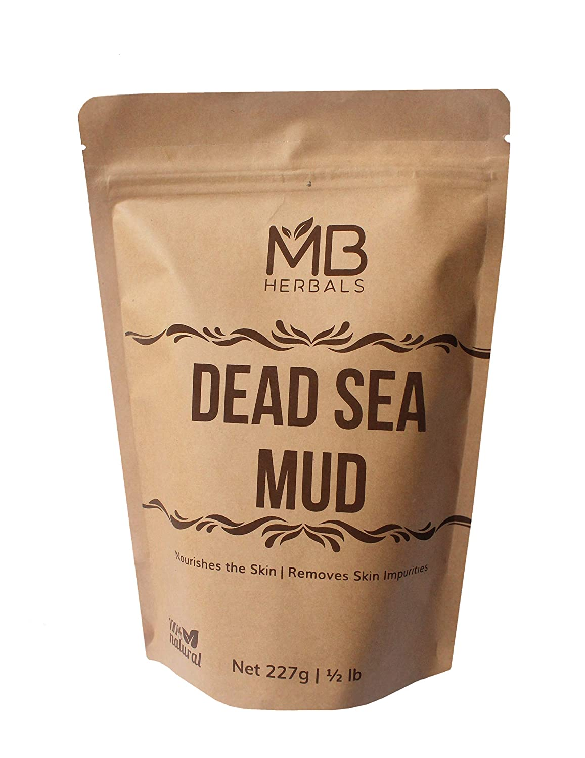 MB Herbals Dead Sea Mud 227 Gram | Half Pound | Nourishes Exfoliates Softens & Detoxify the Skin | DRY CLAY POWDER : Beauty
