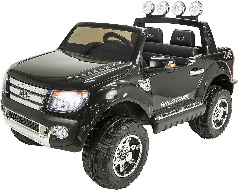 RunRunToys-4005 Coche 4 x 4 Ford Ranger 12 V, 2 plazas, Ruedas Anchas, para niños mañores de 3 años, Color Negro (4005)