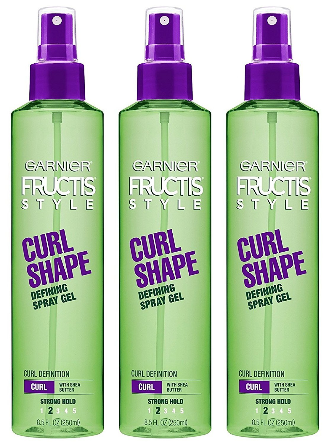 Garnier Fructis Style Curl Shaping Spray Gel, 8.5 Fluid Ounce (Pack of 3)