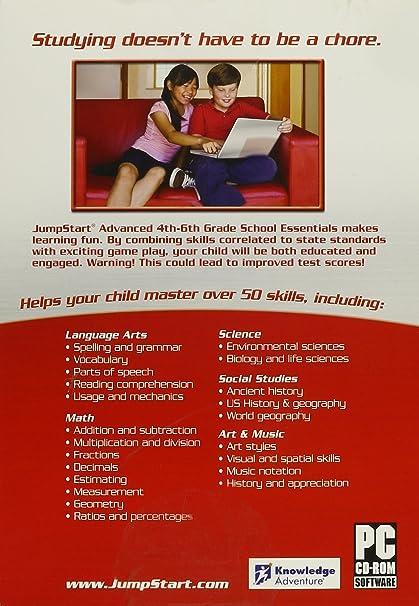 Amazon.com: JumpStart Advanced 4th-6th Grade School Essentials, v. 2.0
