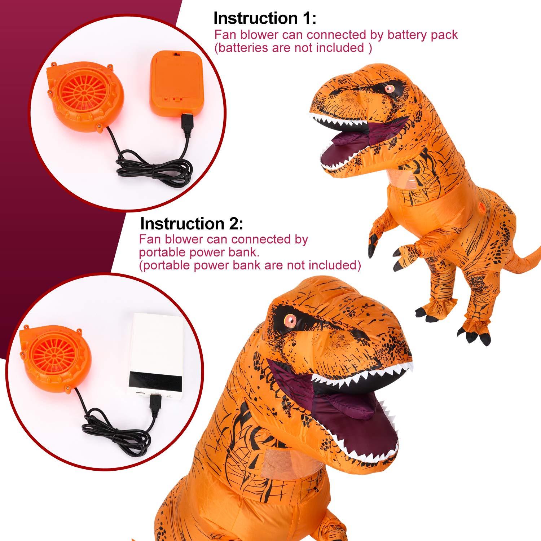 Inflatable T-Rex Dinosaur Costume Adult Blow up Fancy Dress Halloween Costume