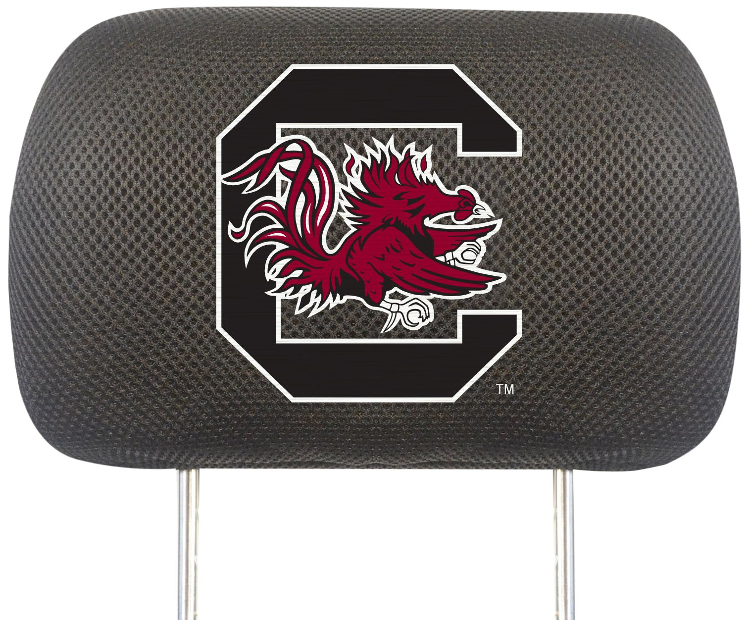 Fanmats NCAA University of South Carolina Gamecocks Polyester Head Rest Cover by Fanmats