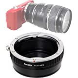 Fotasy Manual Canon EF Lens to Sony E-Mount Adapter, EF to EMount, EFs Lense to E Mount, fits Sony Alpha NEX-5T NEX-6…
