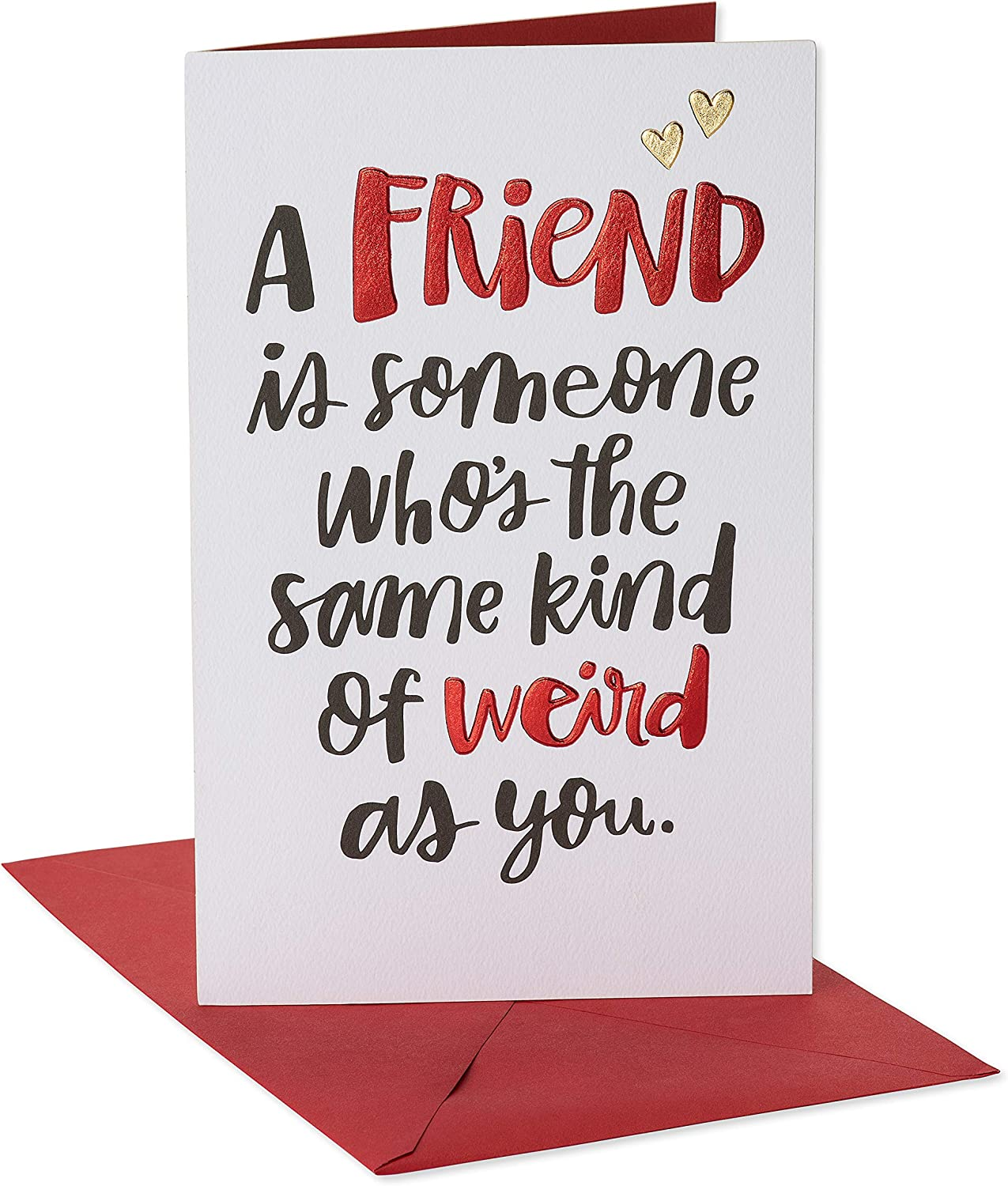Amazon.com: American Greetings Funny Valentine's Day Card for Friend (Same  Kid of Weird): Office Products