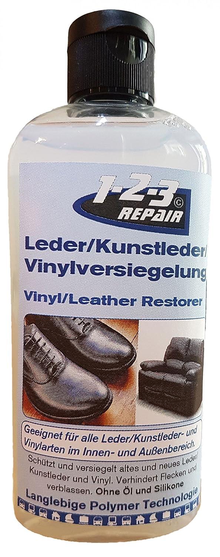 Universale Lederpflege für Kunstleder Sattelpflege von 123Repair I Polsterreiniger Schuh Leder-Pflege Farblos I Vynil Versiegelung Leder für Kleidung, Liegen, Kunstleder Schuhe, Möbel, Reitsattel… Möbel Reitsattel… 1-2-3 REPAIR 123106