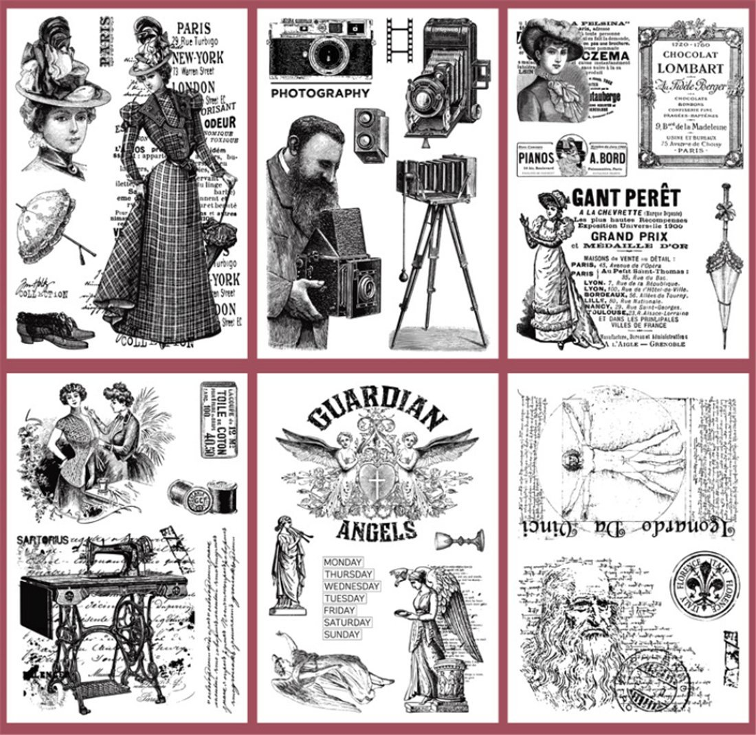 Layhome Vintage Clear Stamp Stamping Scrapbooking Notebook Album Cards Decor (Character Scrapbooking) by Layhome (Image #4)