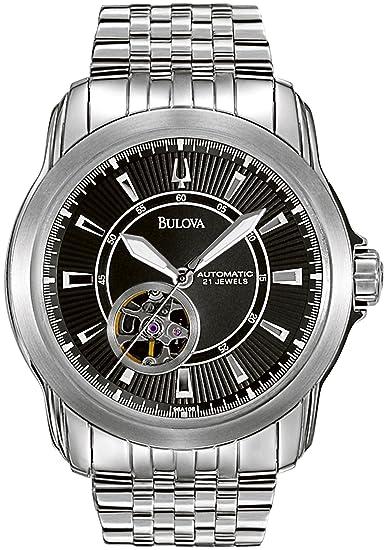 Bulova 96A106 - Reloj de Pulsera Hombre, Acero Inoxidable, Color Plata