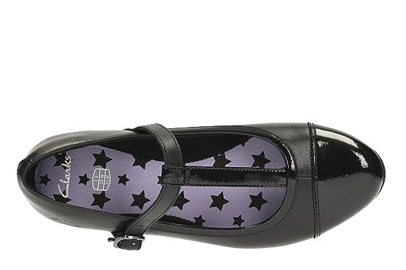 "Girls Clarks Smart T-Bar School Shoes /""Abitha Mist/"""