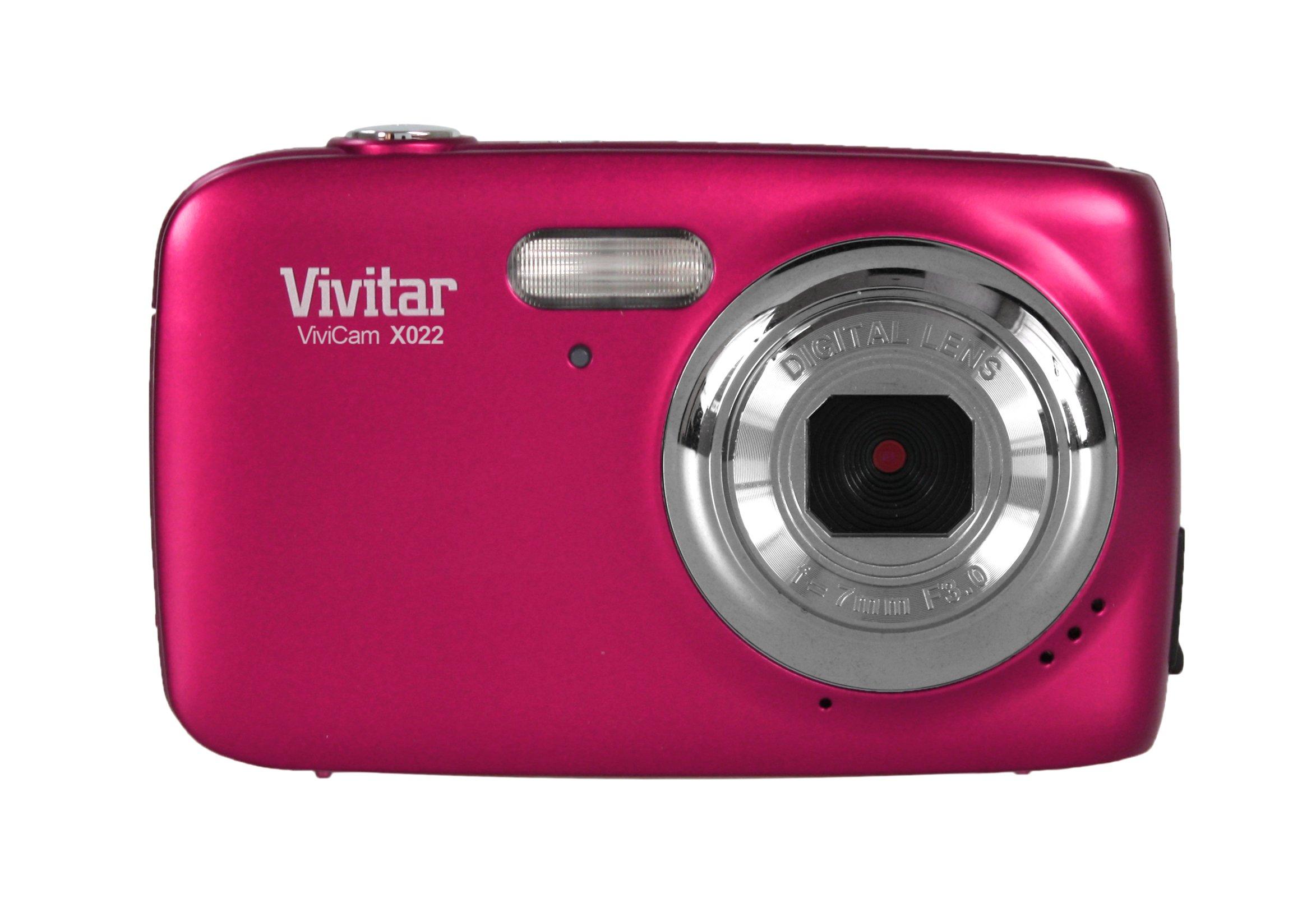 VIVITAR VX022-PNK 10.1 Megapixel VX022 Digital Camera (Pink) by Vivitar