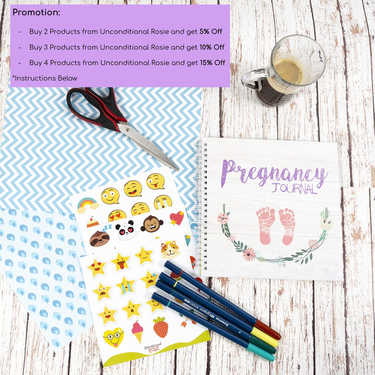 Baby Scrapbook and Photo Album Perfect Pregnancy Gifts for First Time Moms Picture and Milestone Books for Toddlers My 9 Month Journey Pregnancy Journal and Baby Memory Book with Stickers