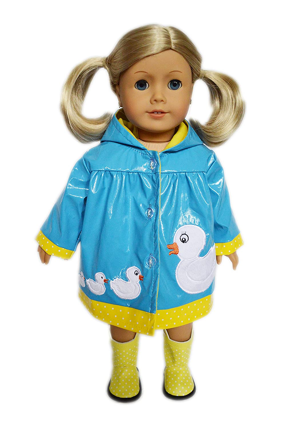 My Brittany's Blue Ducky Raincoat With Boots for American Girl Dolls   B072ST9MK4