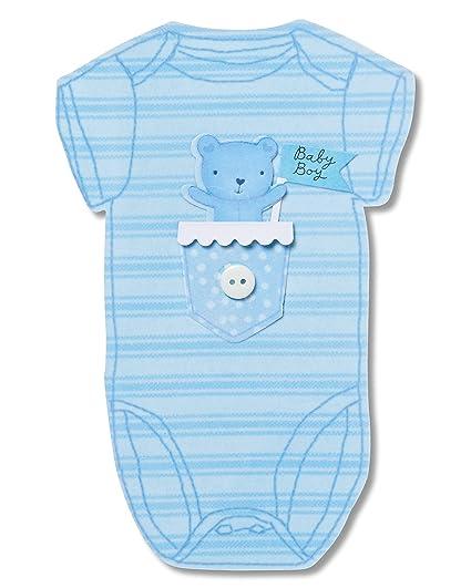 ddb494e3f9210 Amazon.com : American Greetings Little Boy New Baby Congratulations ...