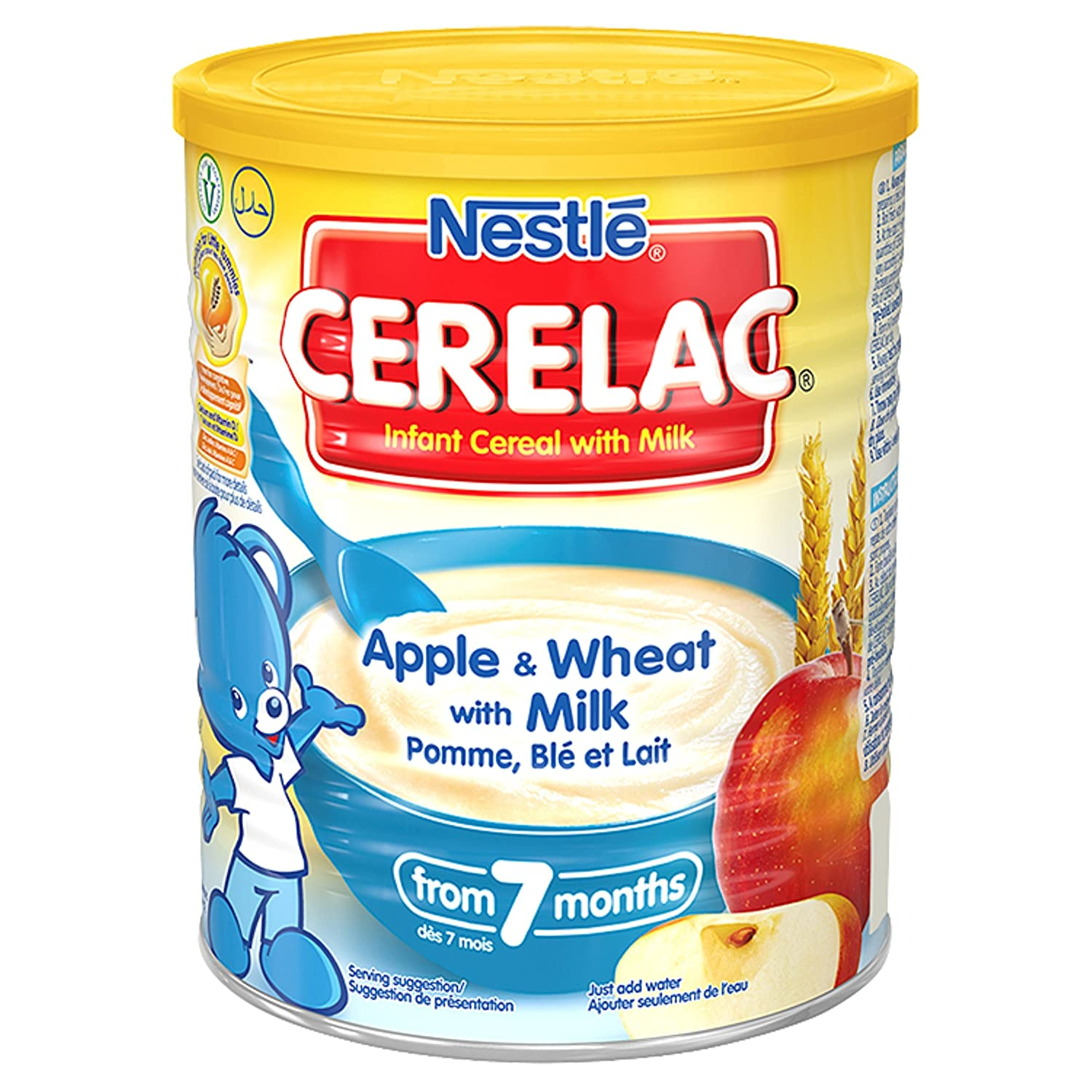 Nestl? Cerelac Infant Cereals Apple And Wheat 400 g (Pack of 4) C05