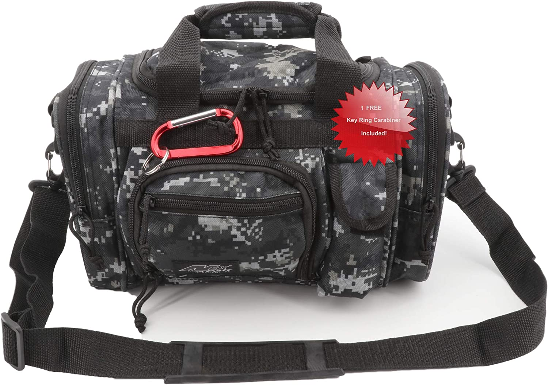 "Nexpak USA Urban Digital Camo Small 13"" Gun Range Carry on Tactical Duffle Duffel Shoulder Strap Bag + Key Ring Carabiner"
