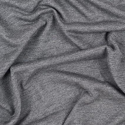 Mood Fabrics Heathered Gray Viscose Jersey, Pattern: Solid