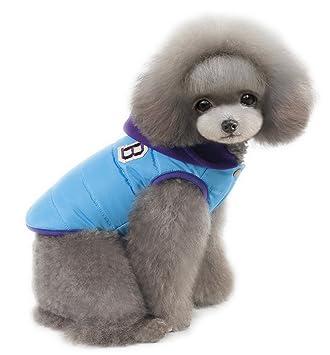 BPS® Ropa para Perros Mascotas Abrigo para Perros Chaqueta para Perros Impermeable Waterproof 3 Colores 5 Tamaños para Perros Pequeños y Medianos Producto ...