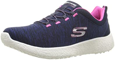 43648370c44b Skechers Women s Burst - Equinox Navy and Hot Pink Sneakers - 3 UK India (