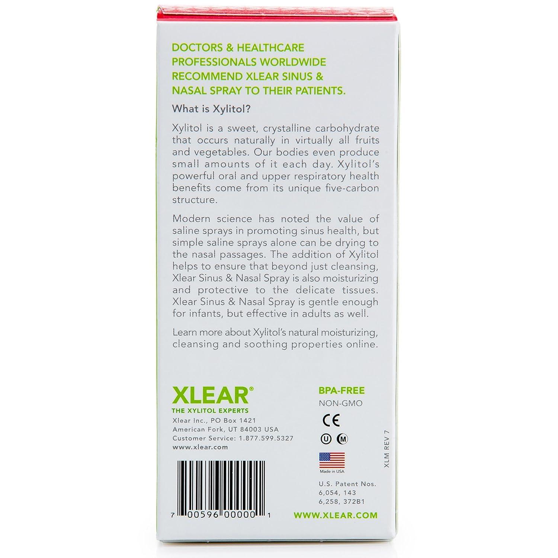 Cuidado del seno con el aerosol nasal de solución salina con xilitol, 45 ml, de Xlear: Amazon.es: Salud y cuidado personal