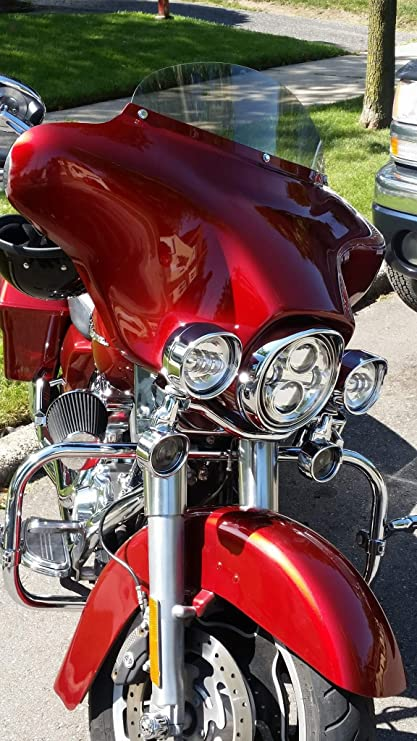 "// Electra Glide Harley 4"" Windshield Black Ultra Classic 2014-2020"