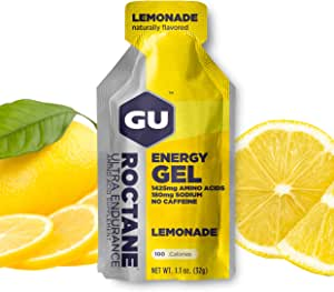 GU Energy Roctane Ultra Endurance Energy Gel, 24-Count, Lemonade