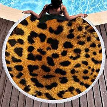 FGVBWE4R Verano Nuevo 3D Animal Print Toalla de Baño Flor de Flecos Microfibra Toalla de Playa