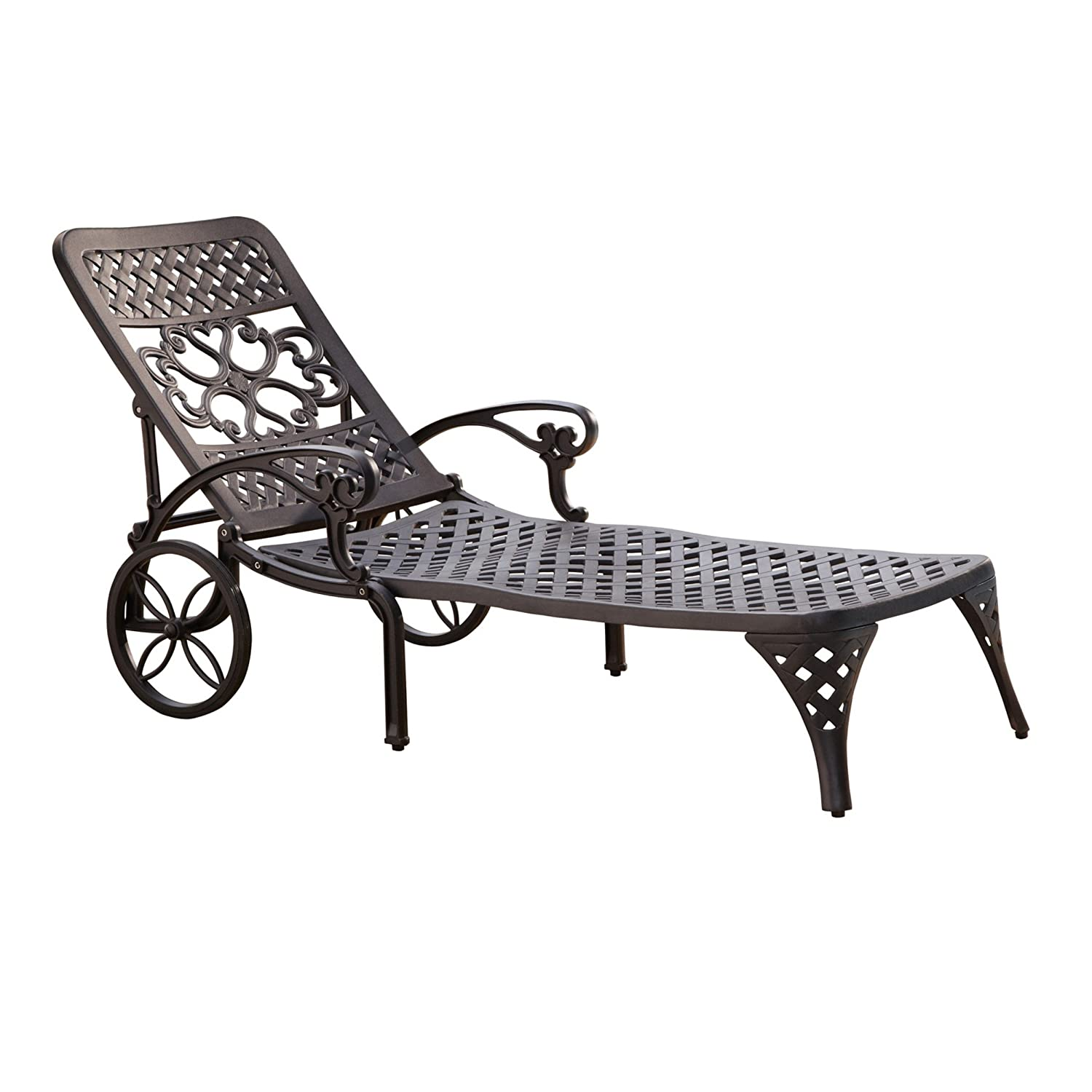 Amazon.com  Home Styles Biscayne Chaise Lounge Chair Black  Patio Lounge Chairs  Garden u0026 Outdoor  sc 1 st  Amazon.com : chaise lounges for patio - Sectionals, Sofas & Couches