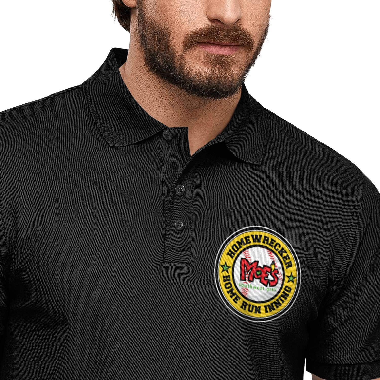 QUNTOYR Mens Short Sleeve Polo Tee Shirt Moes Homewrecker Logo Trend Pullover Active Printed T-Shirt