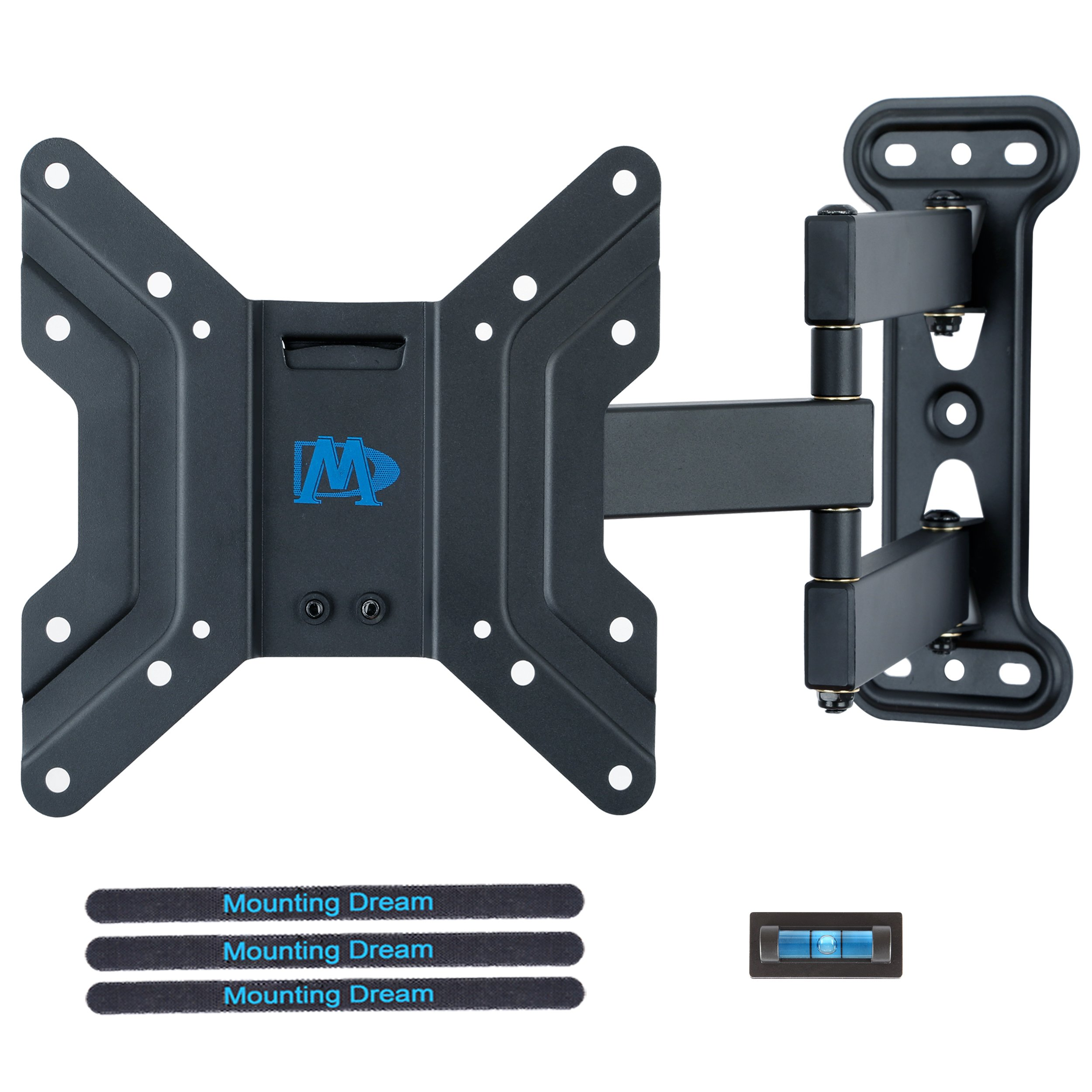 """Mounting Dream MD2413-S Full Motion TV Wall Mount Bracket with Articulating Arms, 60 Lbs Loading Capacity, Fits Most of 17-39 Inches LED, LCD TV with Max VESA 200 x 200mm, 18.8"""" Extension"""